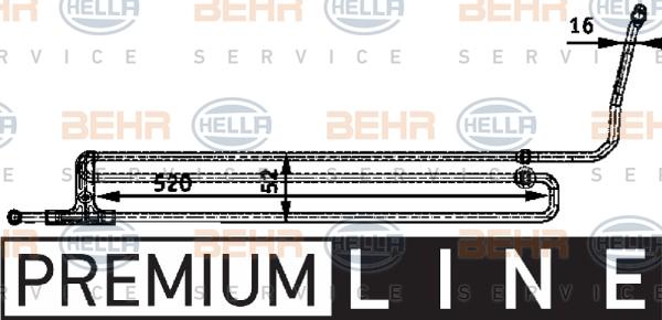 Radiateur de direction BEHR HELLA SERVICE 8MO 376 726-201 (X1)