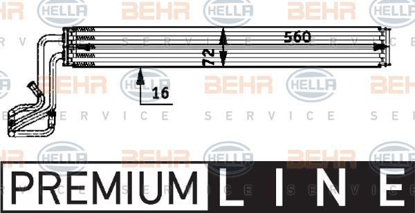 Radiateur de direction BEHR HELLA SERVICE 8MO 376 726-311 (X1)