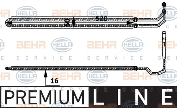 Radiateur de direction BEHR HELLA SERVICE 8MO 376 726-331 (X1)