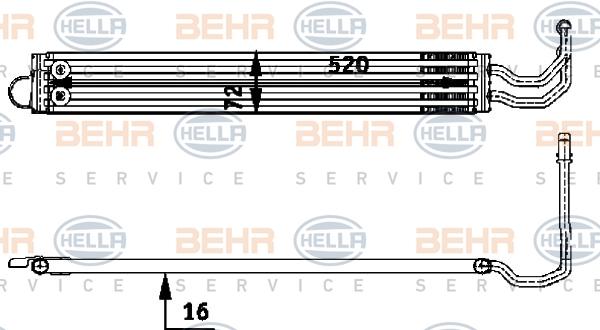 Radiateur de direction BEHR HELLA SERVICE 8MO 376 726-341 (X1)