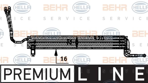 Radiateur de direction BEHR HELLA SERVICE 8MO 376 726-361 (X1)