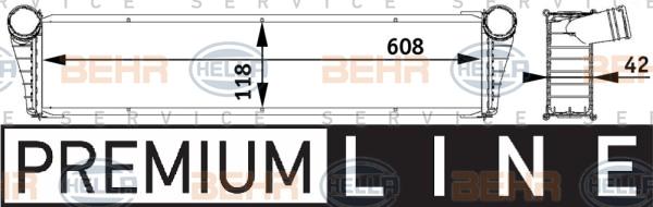 Radiateur de refroidissement BEHR HELLA SERVICE 8MK 376 729-531 (X1)