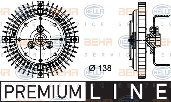 Embrayage de ventilateur refroidissement BEHR HELLA SERVICE 8MV 376 732-011 (X1)