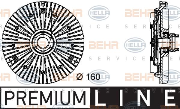 Embrayage de ventilateur refroidissement BEHR HELLA SERVICE 8MV 376 732-031 (X1)
