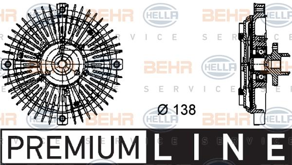 Embrayage de ventilateur refroidissement BEHR HELLA SERVICE 8MV 376 732-221 (X1)