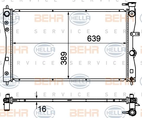 Radiateur de refroidissement BEHR HELLA SERVICE 8MK 376 735-401 (X1)