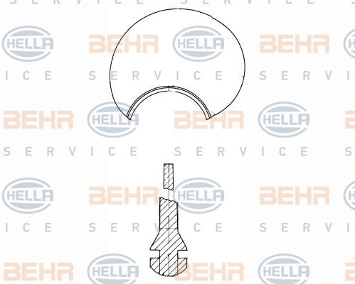 Roue de ventilateur de chauffage BEHR HELLA SERVICE 8EW 376 741-691 (X1)