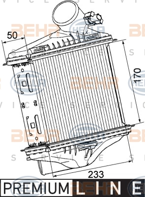 Intercooler radiateur de turbo BEHR HELLA SERVICE 8ML 376 746-241 (X1)