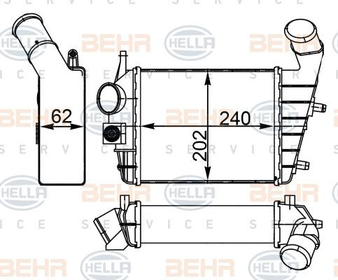 Intercooler radiateur de turbo BEHR HELLA SERVICE 8ML 376 746-544 (X1)