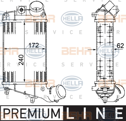 Intercooler radiateur de turbo BEHR HELLA SERVICE 8ML 376 746-561 (X1)