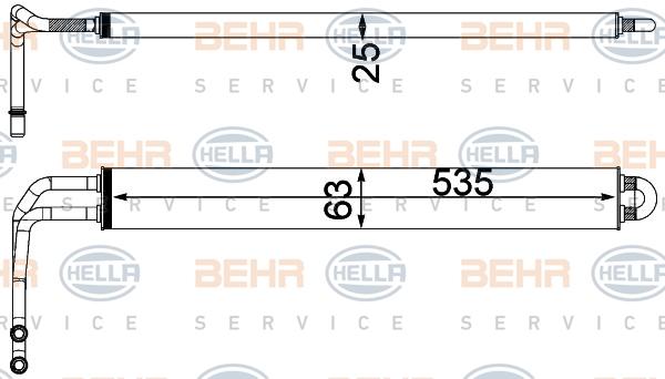 Radiateur de direction BEHR HELLA SERVICE 8MO 376 750-781 (X1)