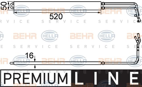 Radiateur de direction BEHR HELLA SERVICE 8MO 376 754-291 (X1)