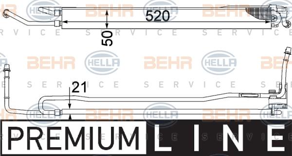 Radiateur de direction BEHR HELLA SERVICE 8MO 376 755-481 (X1)