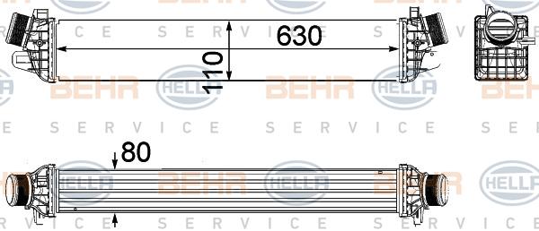 Intercooler radiateur de turbo BEHR HELLA SERVICE 8ML 376 756-281 (X1)