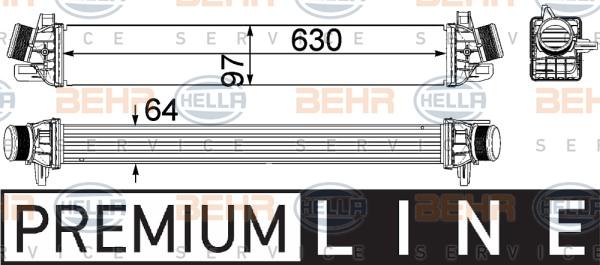 Intercooler radiateur de turbo BEHR HELLA SERVICE 8ML 376 756-291 (X1)