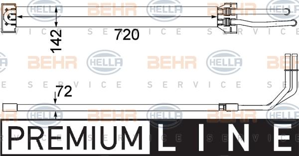 Radiateur de direction BEHR HELLA SERVICE 8MO 376 756-371 (X1)