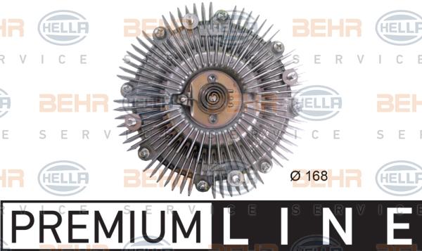 Embrayage de ventilateur refroidissement BEHR HELLA SERVICE 8MV 376 758-621 (X1)