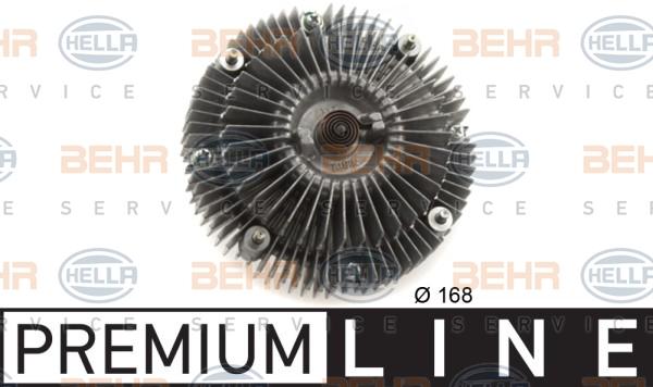 Embrayage de ventilateur refroidissement BEHR HELLA SERVICE 8MV 376 758-721 (X1)