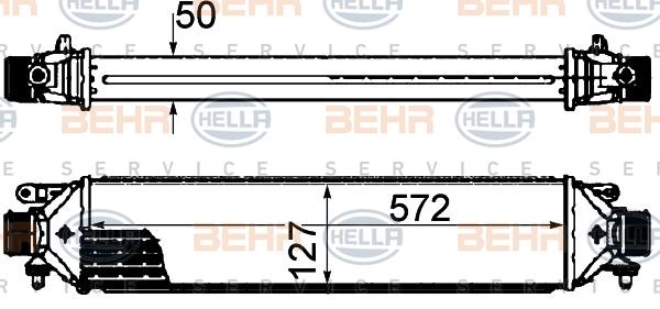 Intercooler radiateur de turbo BEHR HELLA SERVICE 8ML 376 899-131 (X1)