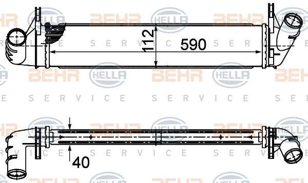 Intercooler radiateur de turbo BEHR HELLA SERVICE 8ML 376 988-134 (X1)