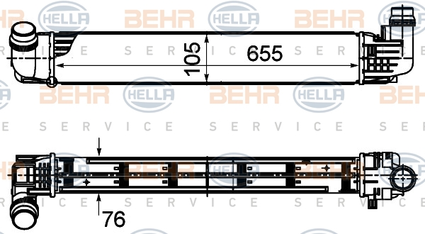 Intercooler radiateur de turbo BEHR HELLA SERVICE 8ML 376 988-144 (X1)