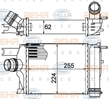 Intercooler radiateur de turbo BEHR HELLA SERVICE 8ML 376 988-154 (X1)