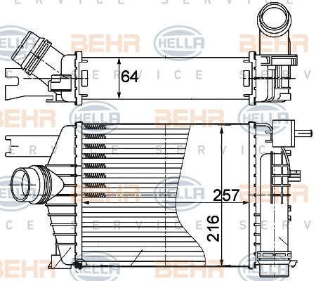 Intercooler radiateur de turbo BEHR HELLA SERVICE 8ML 376 988-164 (X1)