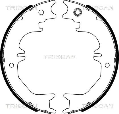 Jeu de mâchoires de frein de frein à main TRISCAN 8100 13050 (X1)