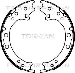 Freinage TRISCAN 8100 40008 (X1)