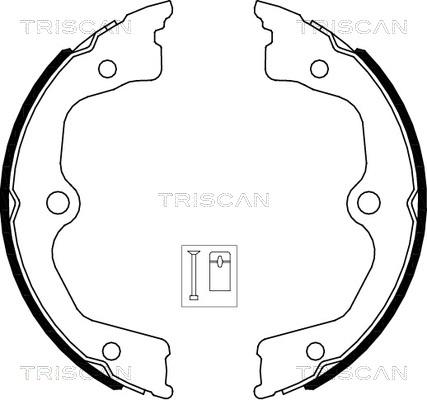 Jeu de mâchoires de frein de frein à main TRISCAN 8100 40009 (X1)