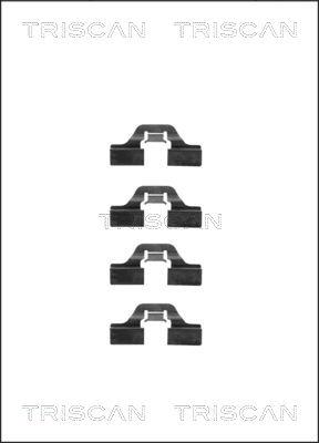 Kit de montage plaquettes de frein TRISCAN 8105 101605 (X1)