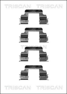 Kit de montage plaquettes de frein TRISCAN 8105 101613 (X1)