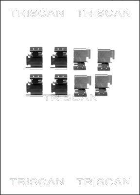Kit de montage plaquettes de frein TRISCAN 8105 101627 (X1)