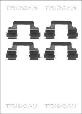 Kit de montage plaquettes de frein TRISCAN 8105 101630 (X1)