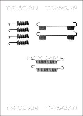 Kit d'accessoires mâchoires de frein de stationnement TRISCAN 8105 102586 (X1)