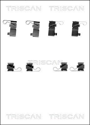 Kit de montage plaquettes de frein TRISCAN 8105 131639 (X1)