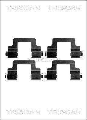 Kit de montage plaquettes de frein TRISCAN 8105 291606 (X1)