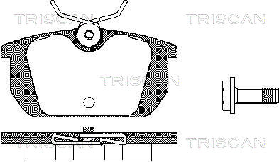 Plaquettes de frein TRISCAN 8110 10984 (X1)