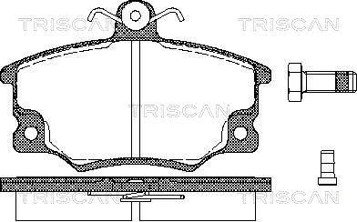 Plaquettes de frein TRISCAN 8110 15508 (X1)