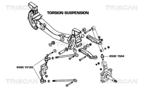 Rotule exterieure TRISCAN 8500 15120 (X1)