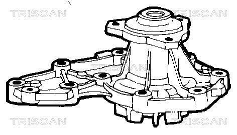 Pompe a eau TRISCAN 8600 10877 (X1)