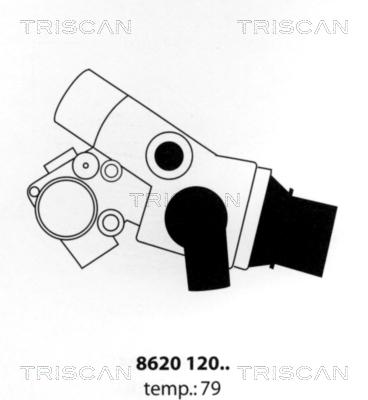 Thermostat/calorstat TRISCAN 8620 12079 (X1)