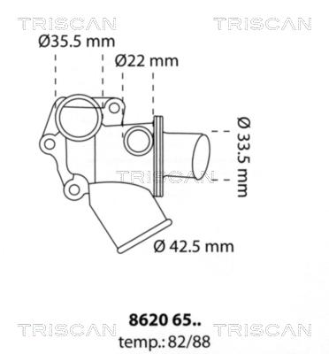 Thermostat/calorstat TRISCAN 8620 6588 (X1)