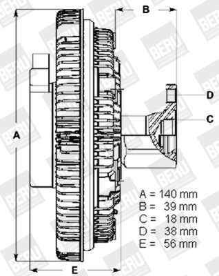 Embrayage de ventilateur refroidissement BERU LK001 (X1)