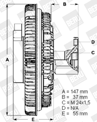 Embrayage de ventilateur refroidissement BERU LK002 (X1)