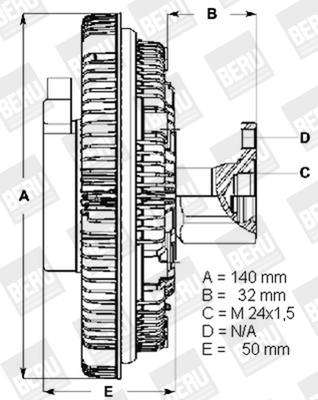 Embrayage de ventilateur refroidissement BERU LK004 (X1)