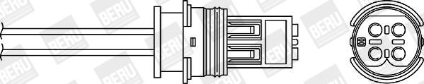 Sonde lambda BERU OPH040 (X1)