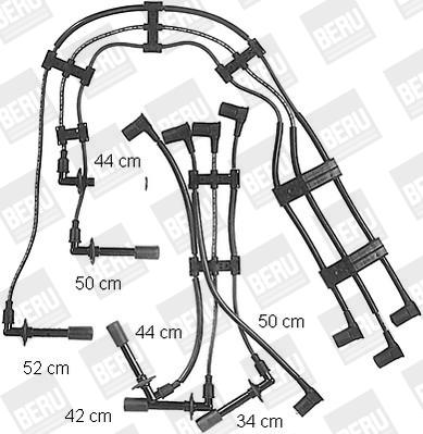 Cable d'allumage BERU ZE732 (X1)