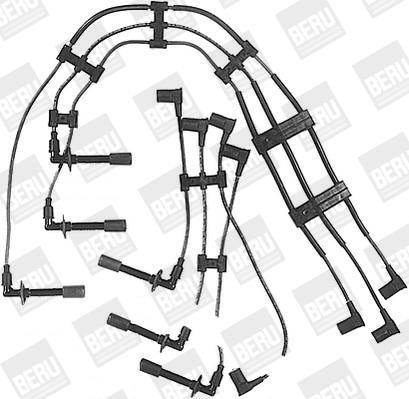 Cable d'allumage BERU ZE744 (X1)