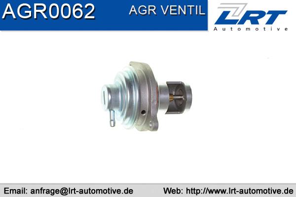 Vanne EGR LRT AGR0062 (X1)